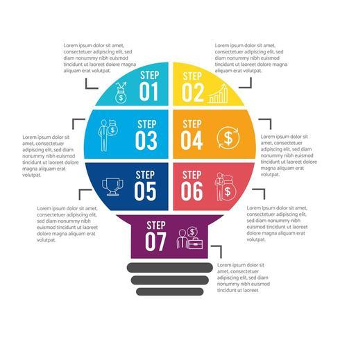 infographic businessplan vooruitgang met lorem ipsum vector