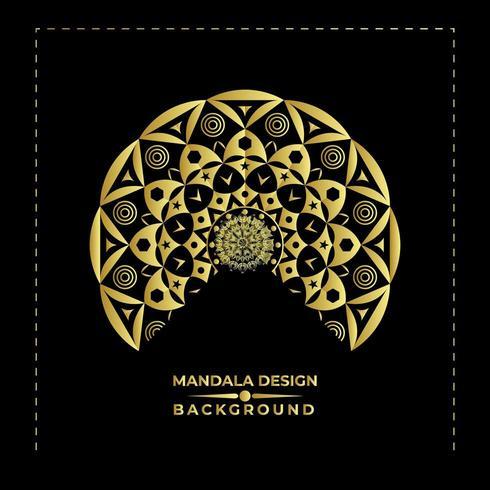 Awesome Nice Mandala Vector achtergrondontwerp