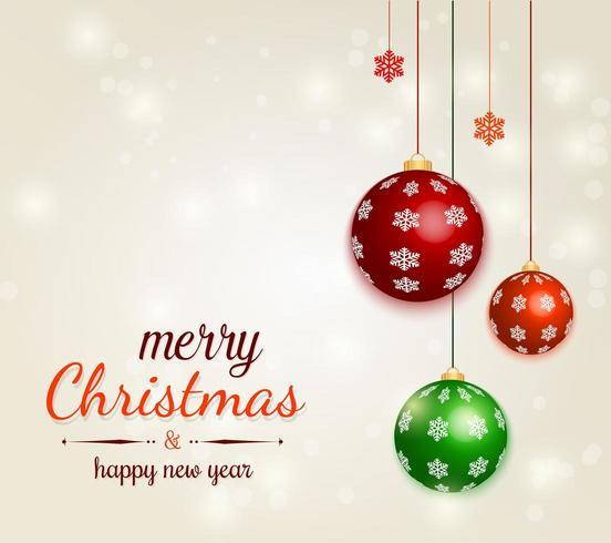 Kerst decoratieve ballen vector