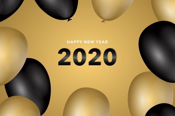 Nieuwe jaar 2020-achtergrond vector