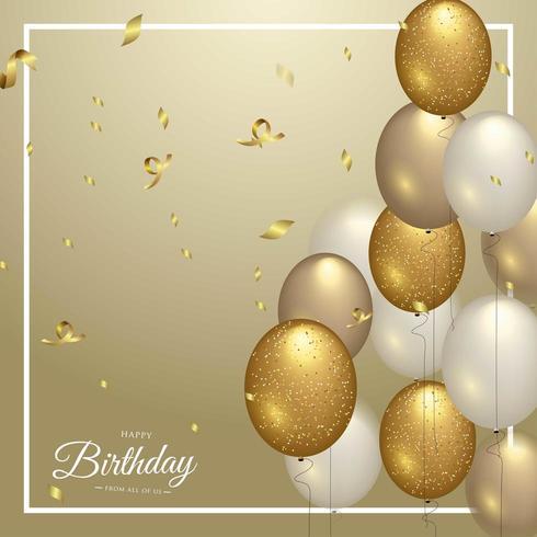 Gelukkige verjaardag viering typografieontwerp voor wenskaart vector