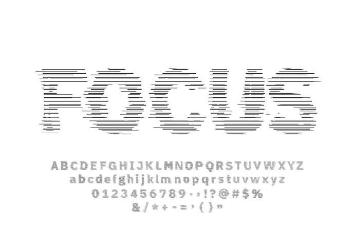 Glitch lijn lettertype ingesteld op witte achtergrond vector