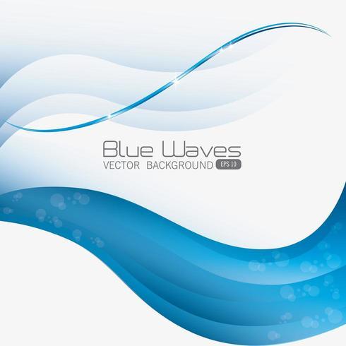 Blauw golvenontwerp. vector
