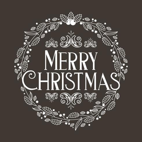 vrolijke kerstdecoratie vector