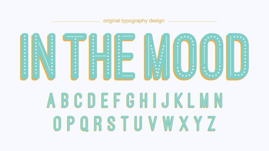 Lichtblauwe vintage gestippelde typografie vector