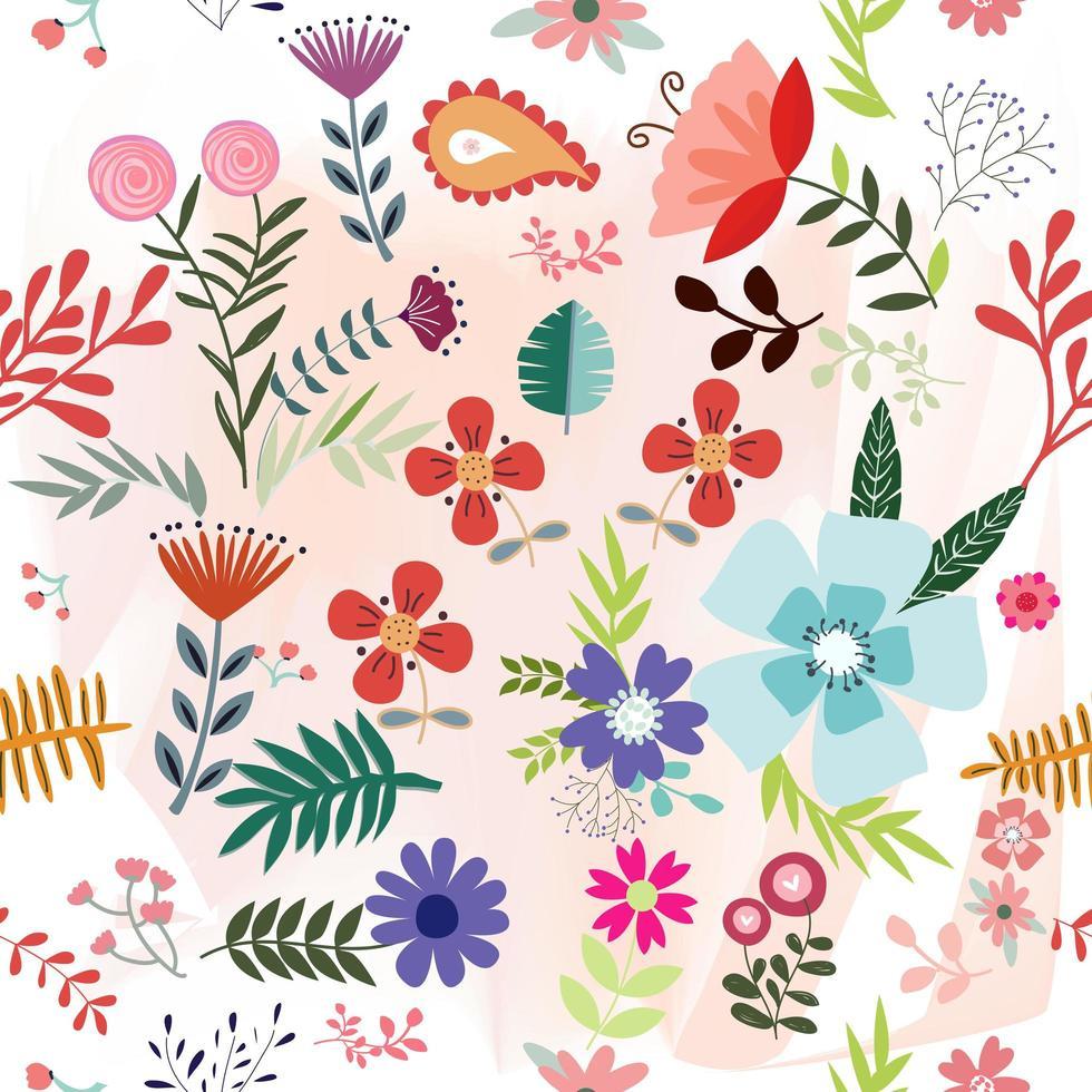 Lente zomer bloementuin vector