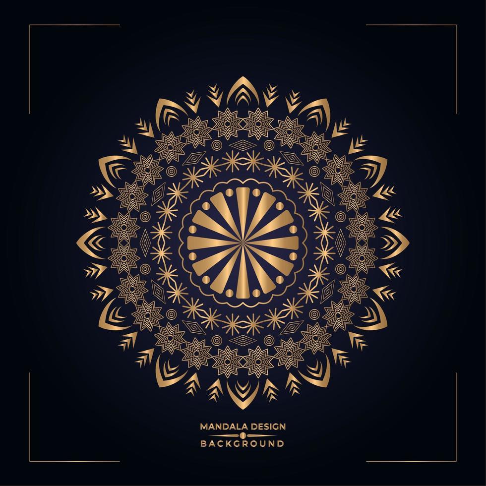 Gouden Mandala-ontwerp vector