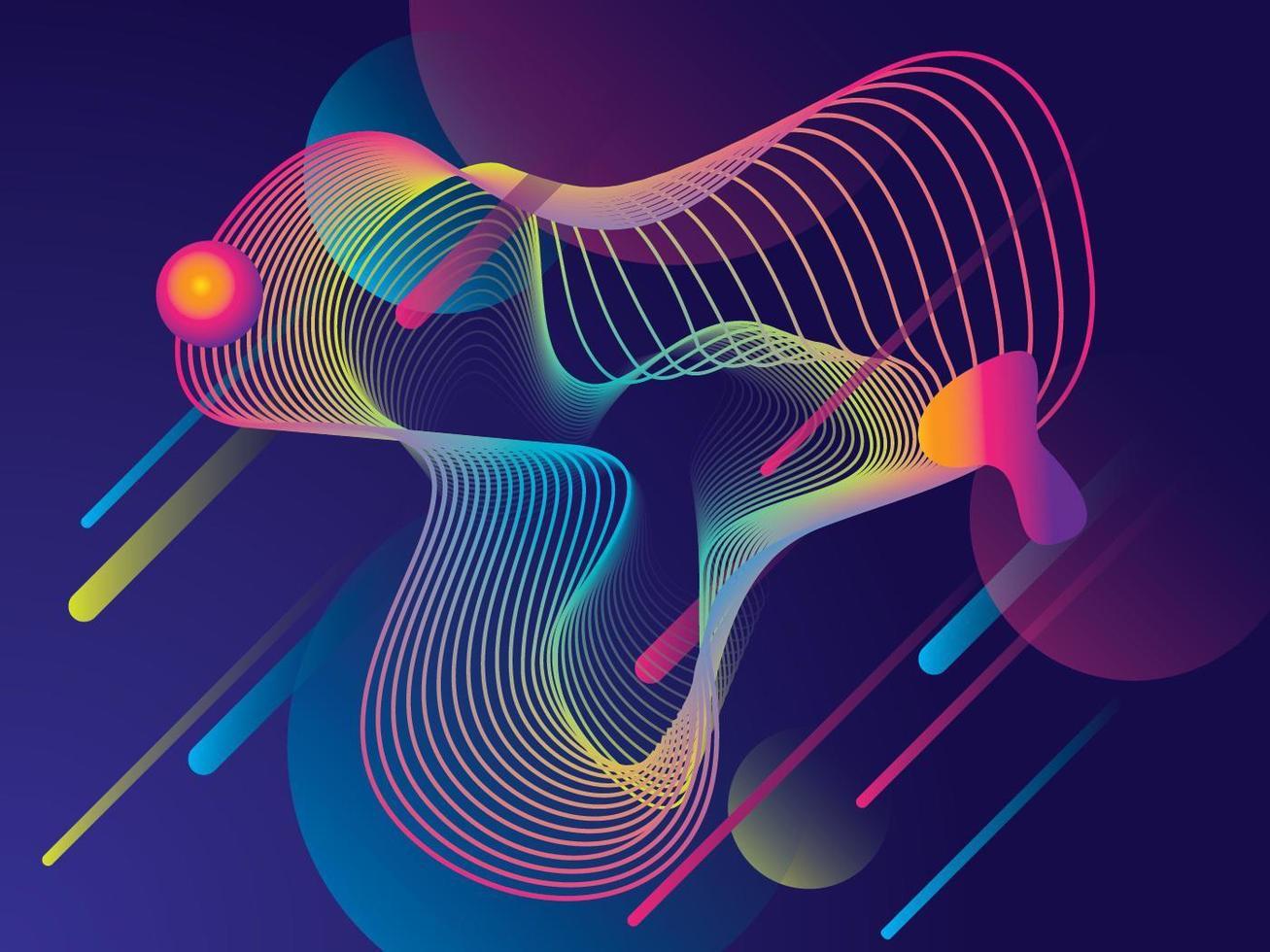 Kleurrijk gradiënt geometrisch ontwerp als achtergrond vector