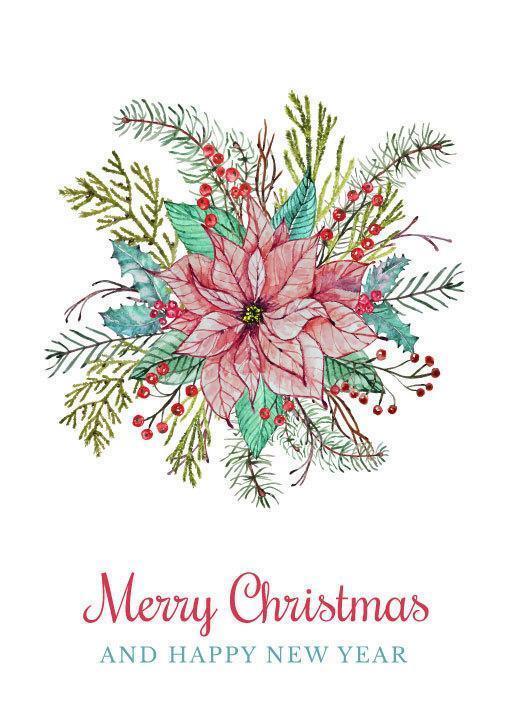 Kerst Bloemstuk vector