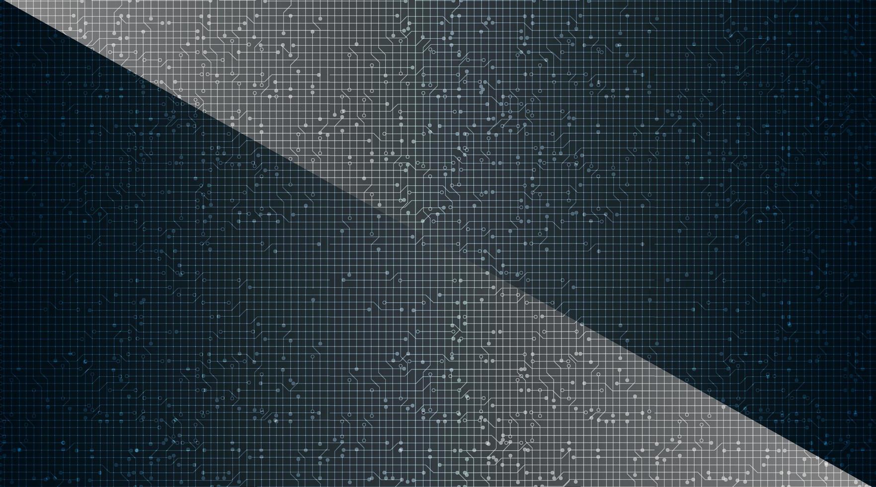 Donkere Microchip op technische achtergrond. vector