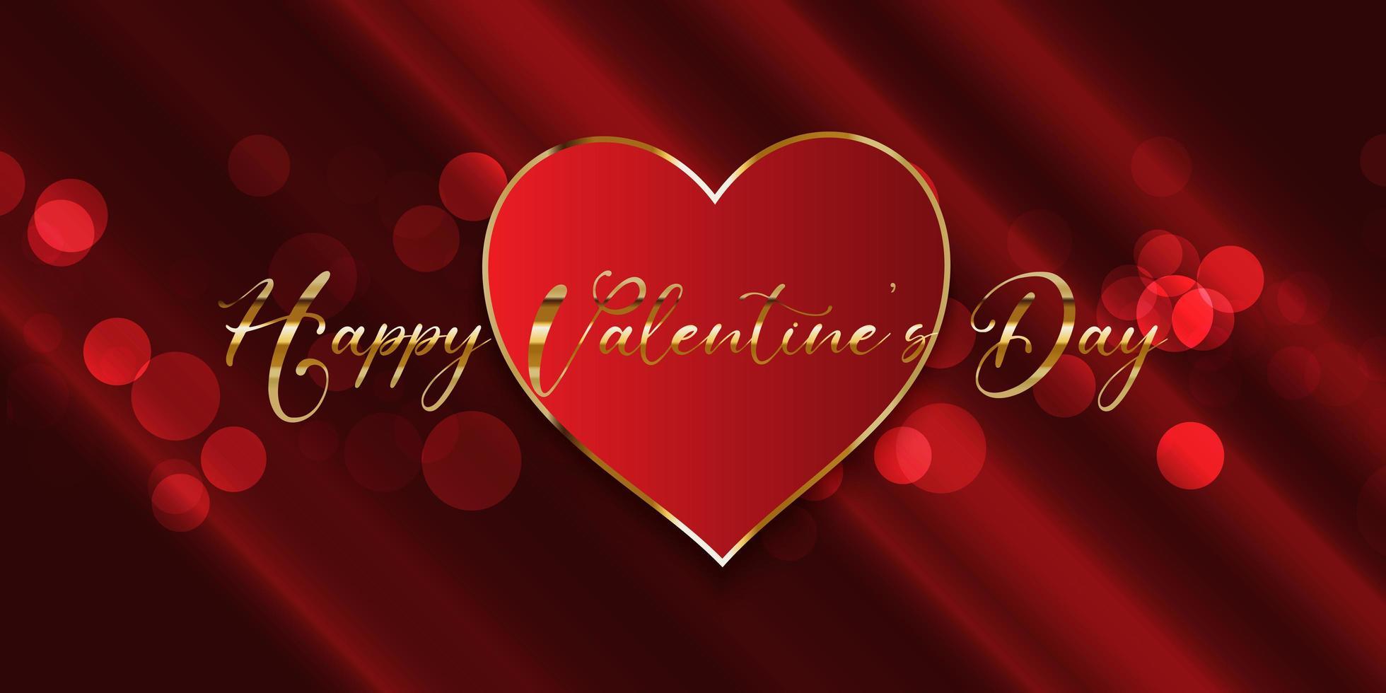 Valentijnsdag banner vector