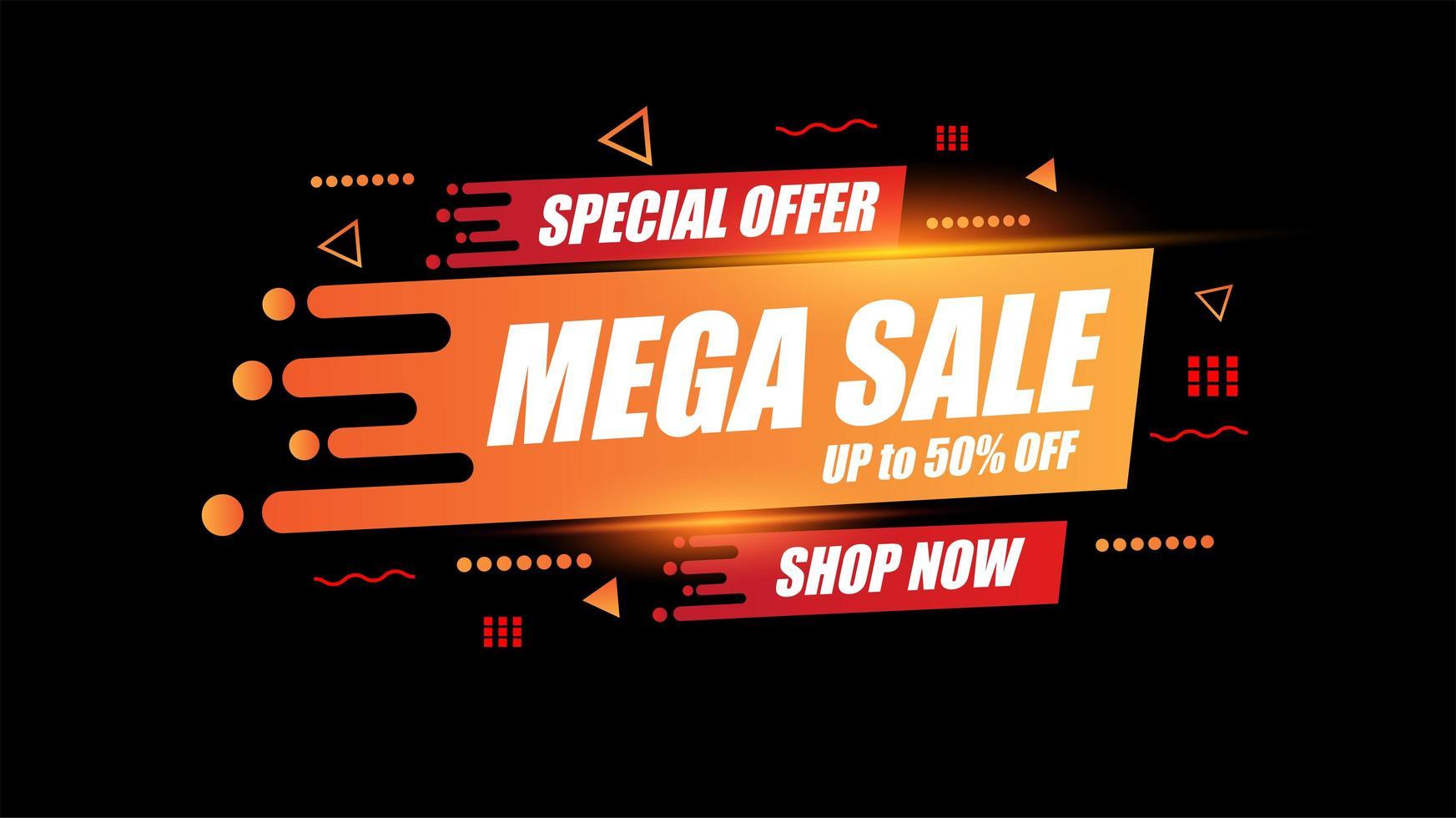 Abstract Mega verkoop sjabloonontwerp voor speciale aanbiedingen, verkoop en kortingen vector