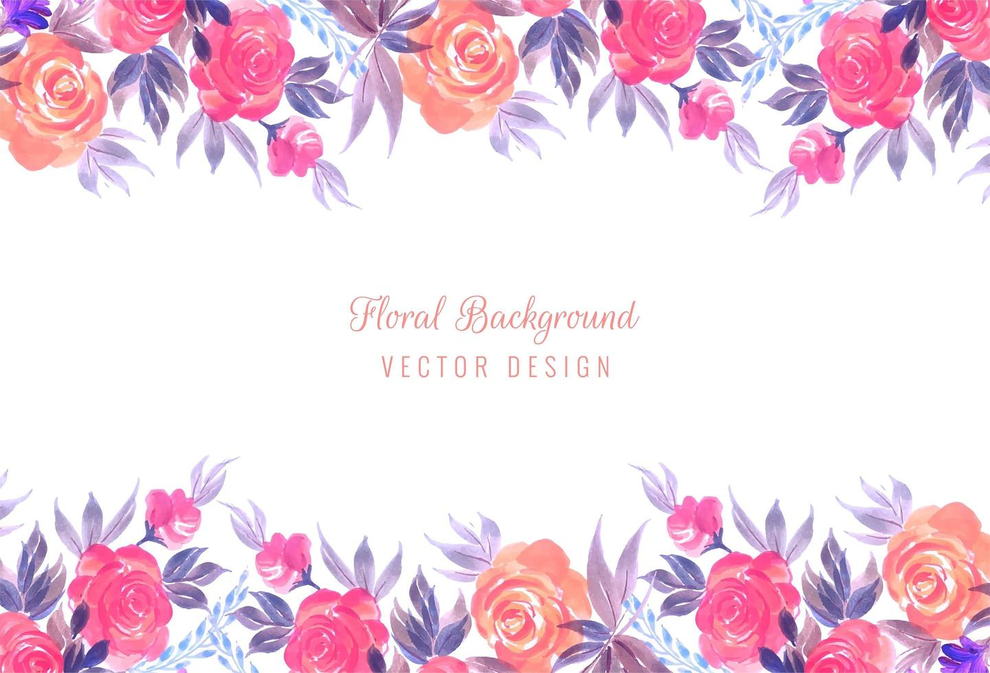 Decoratief kleurrijk de kaartontwerp van het huwelijks bloemenkader vector