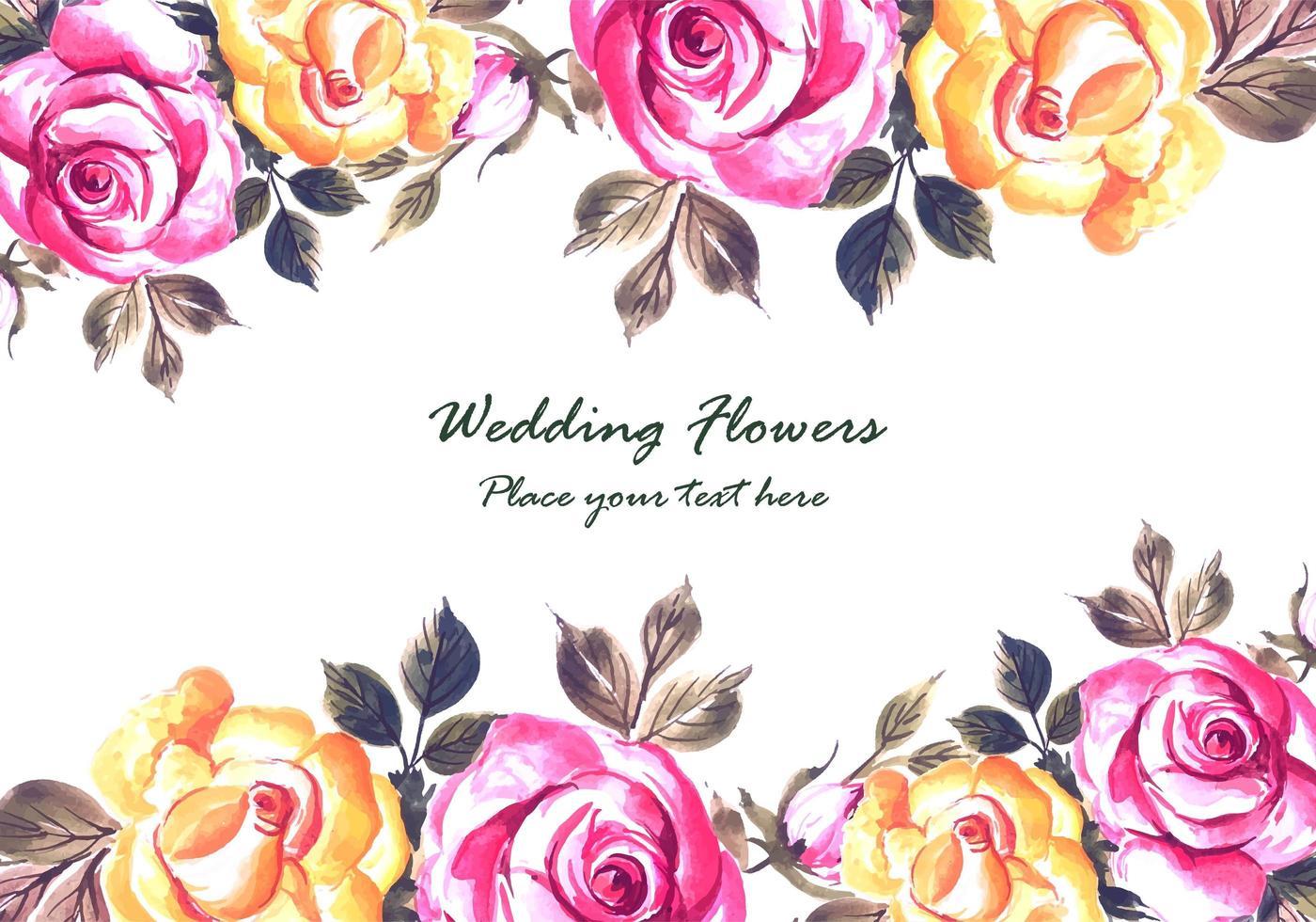 Romantische de kaartachtergrond van huwelijks kleurrijke bloemen vector