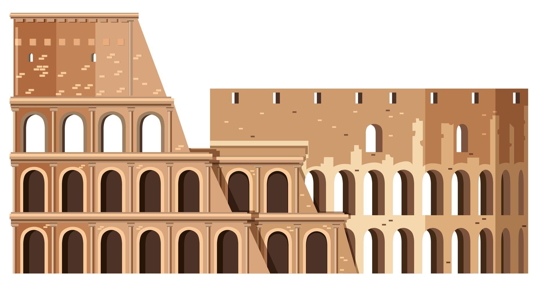 Colosseum In Rome Italië Oriëntatiepunt vector
