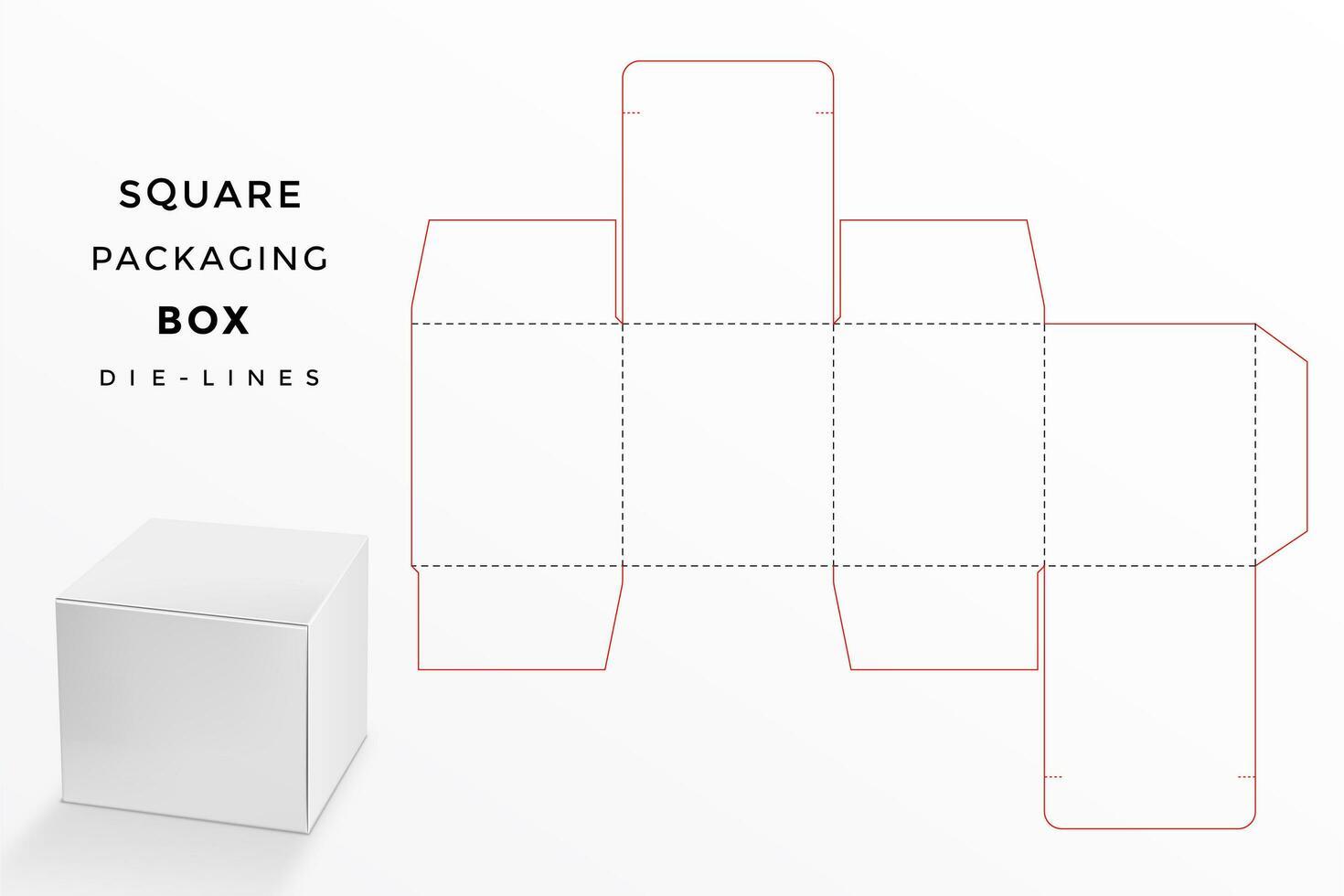 vierkante doos met die lijn vector