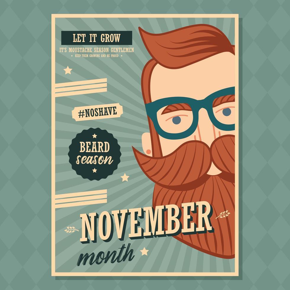 Geen posterontwerp voor november vector