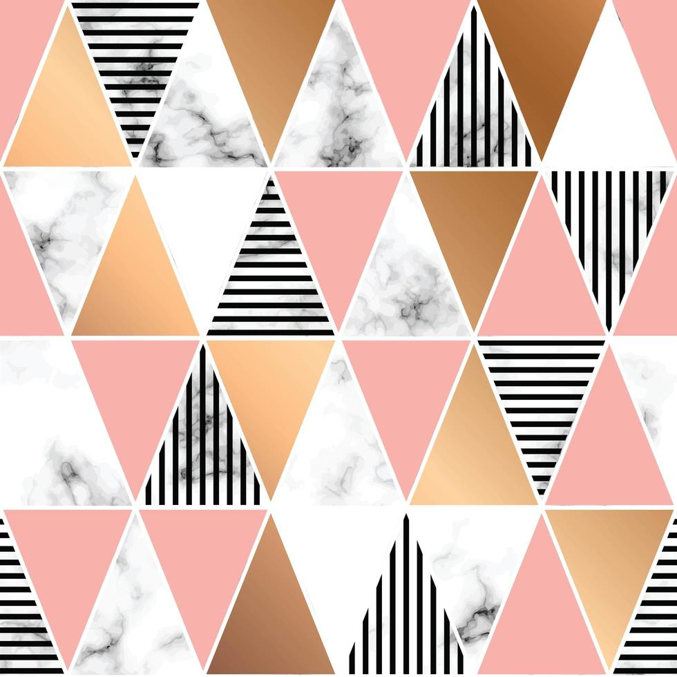 Marmeren textuurontwerp met geometrische vormen vector