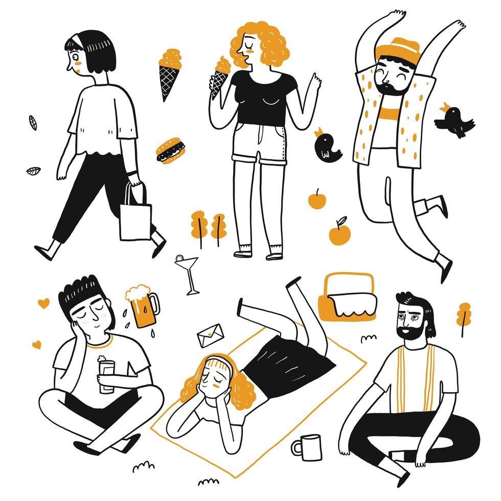 Het tekenkarakter van mensen vector