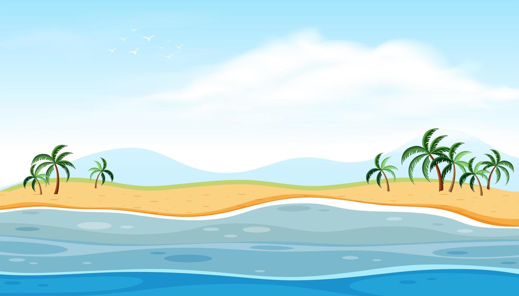 Een prachtig strandlandschap vector