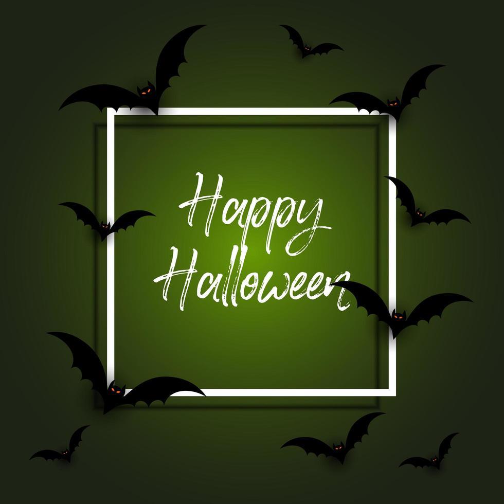 Halloween-achtergrond met knuppels vector