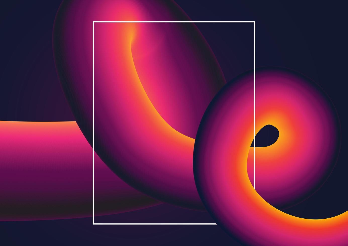 Abstracte achtergrond met kleurovergang werveling vector