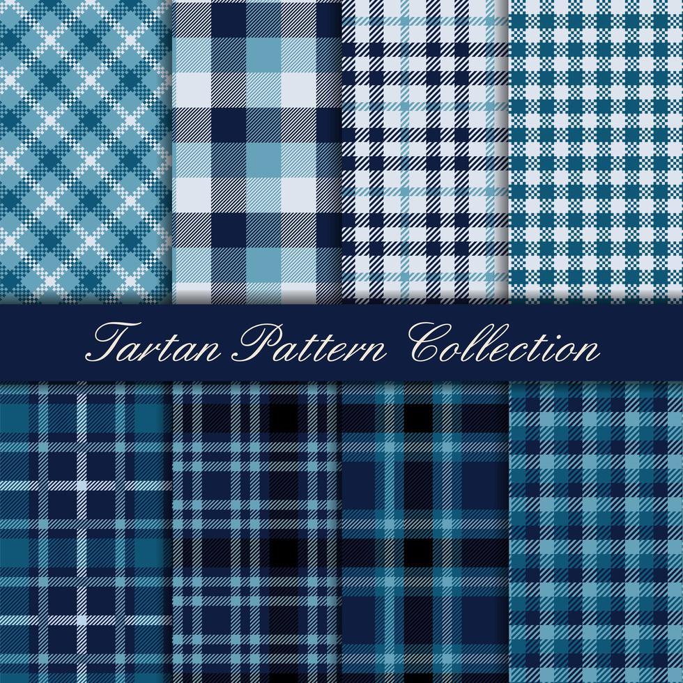 Elegante tartan patrooncollectie koningsblauw vector