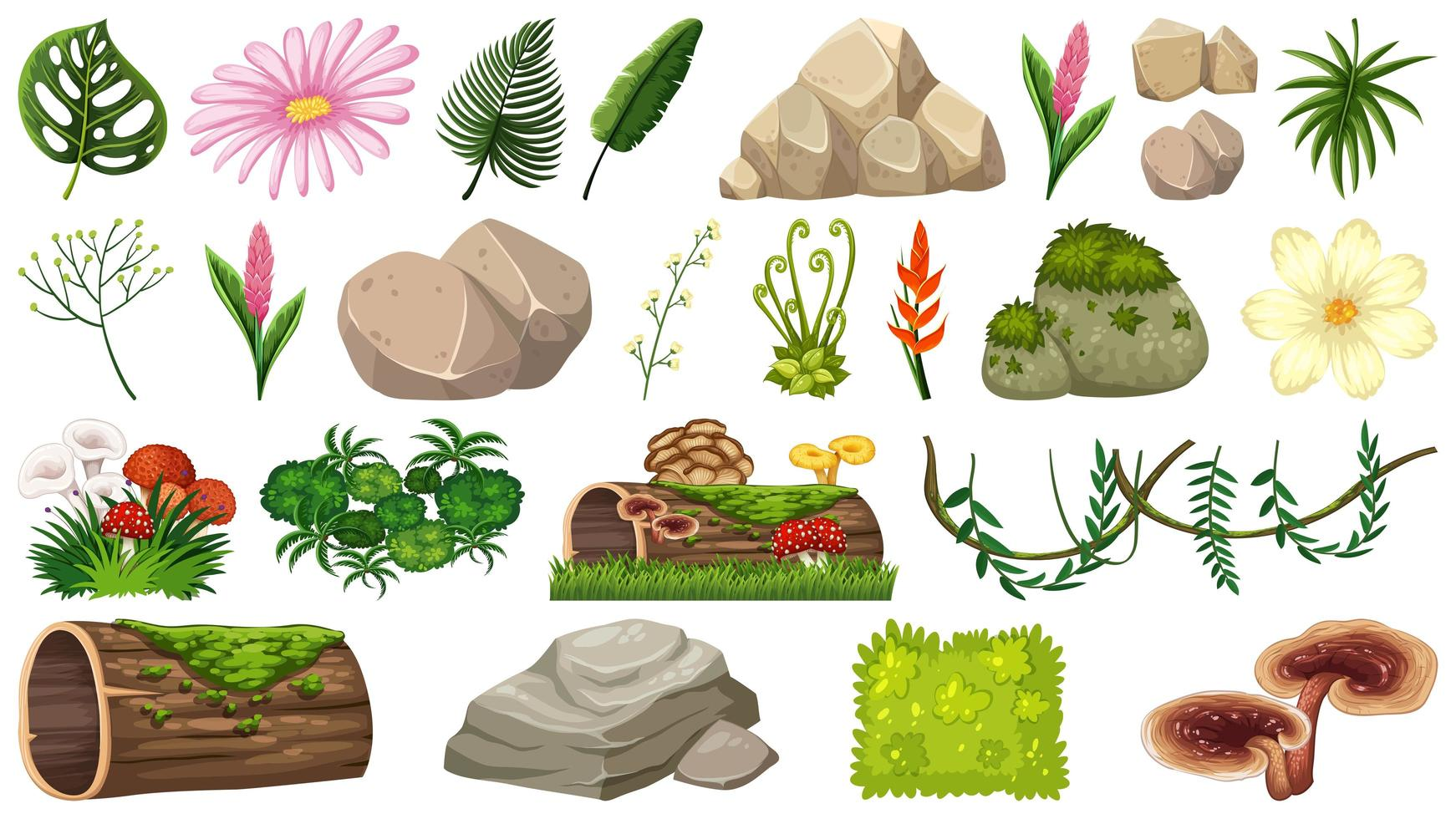 Set van natuurobjecten vector