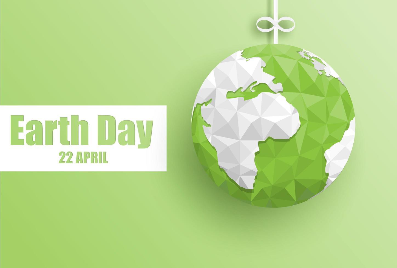 Happy aarde dag achtergrond vector
