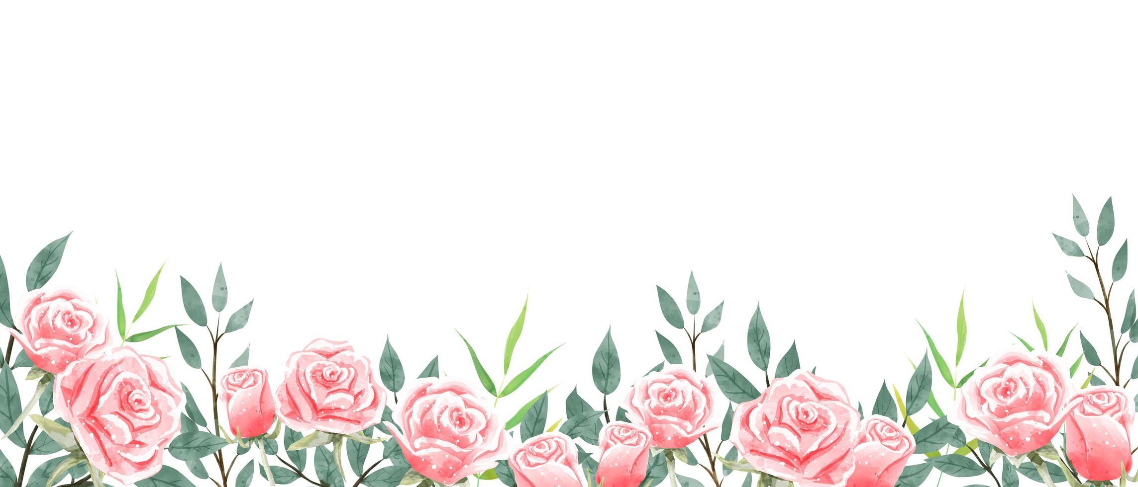 Het behang van de rozentuin op witte achtergrond. vector