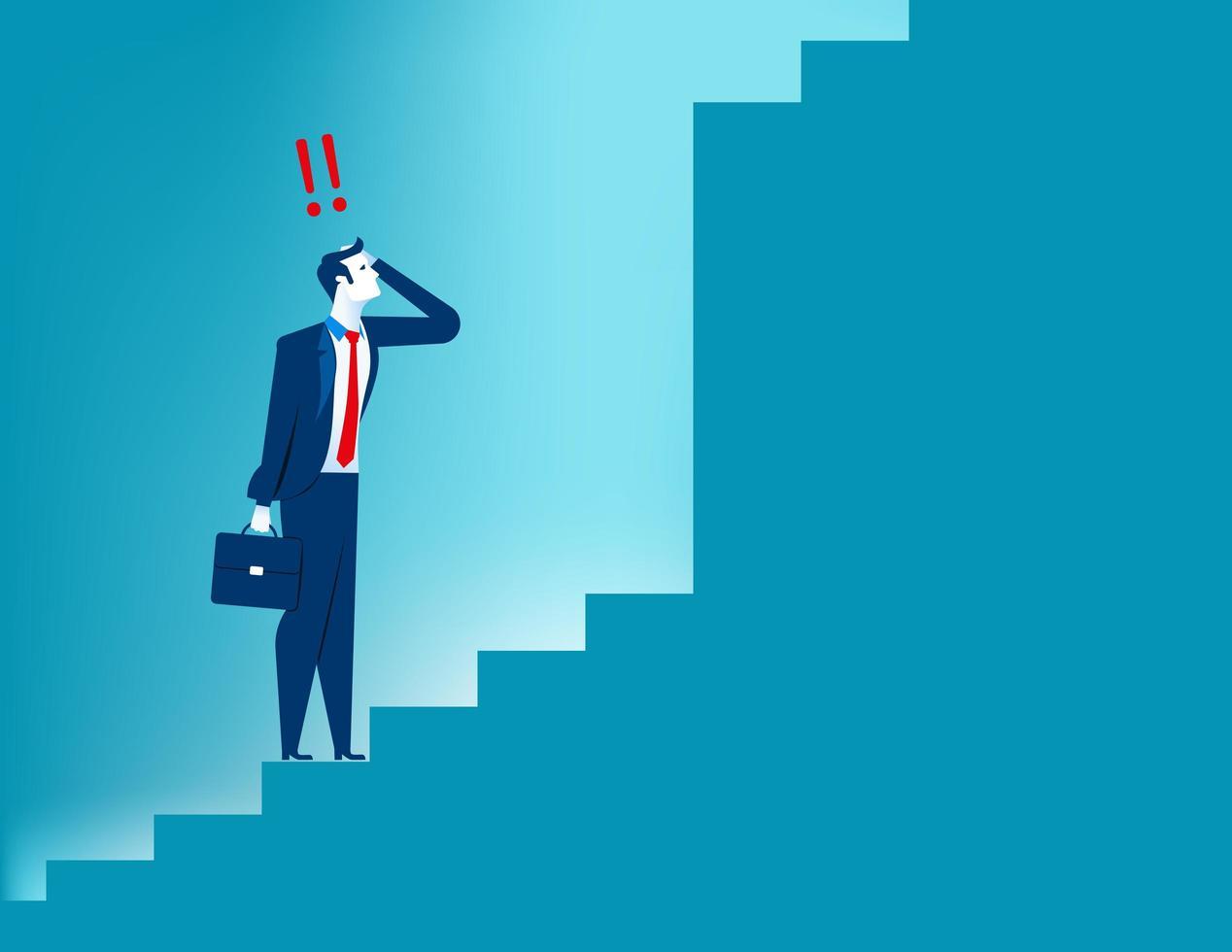 Bedrijfsvisie en strategiezakenman vector