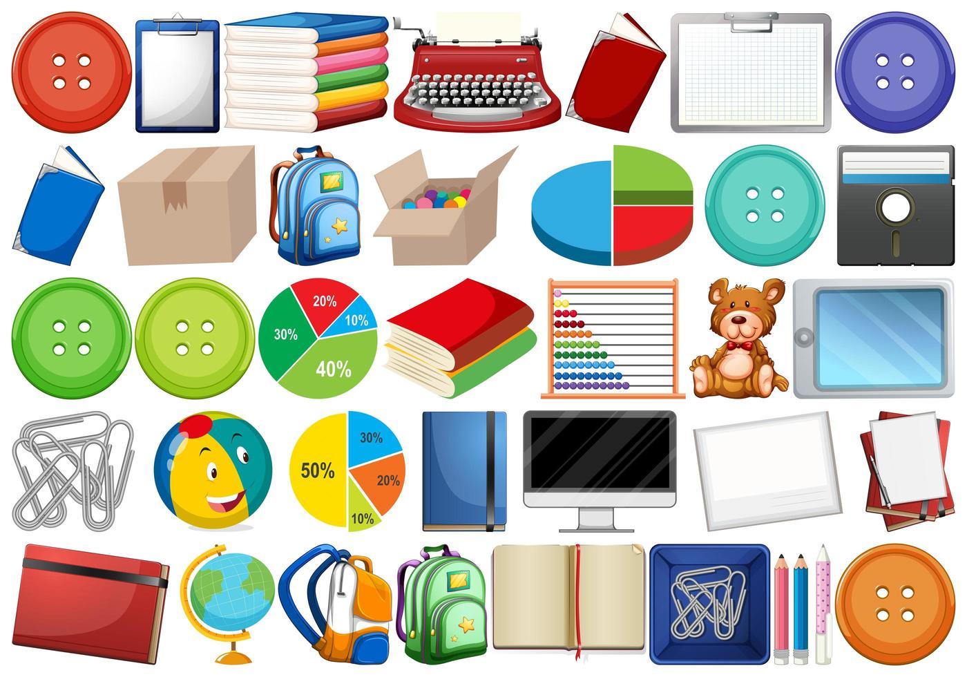 Educatieve en schoolset vector