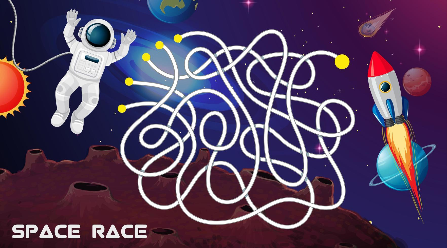 Space race game achtergrond vector