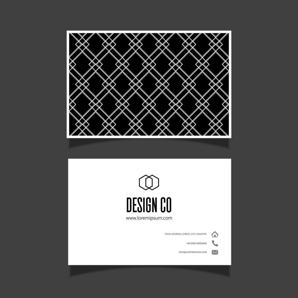 Visitekaartje met diamant patroon ontwerp vector