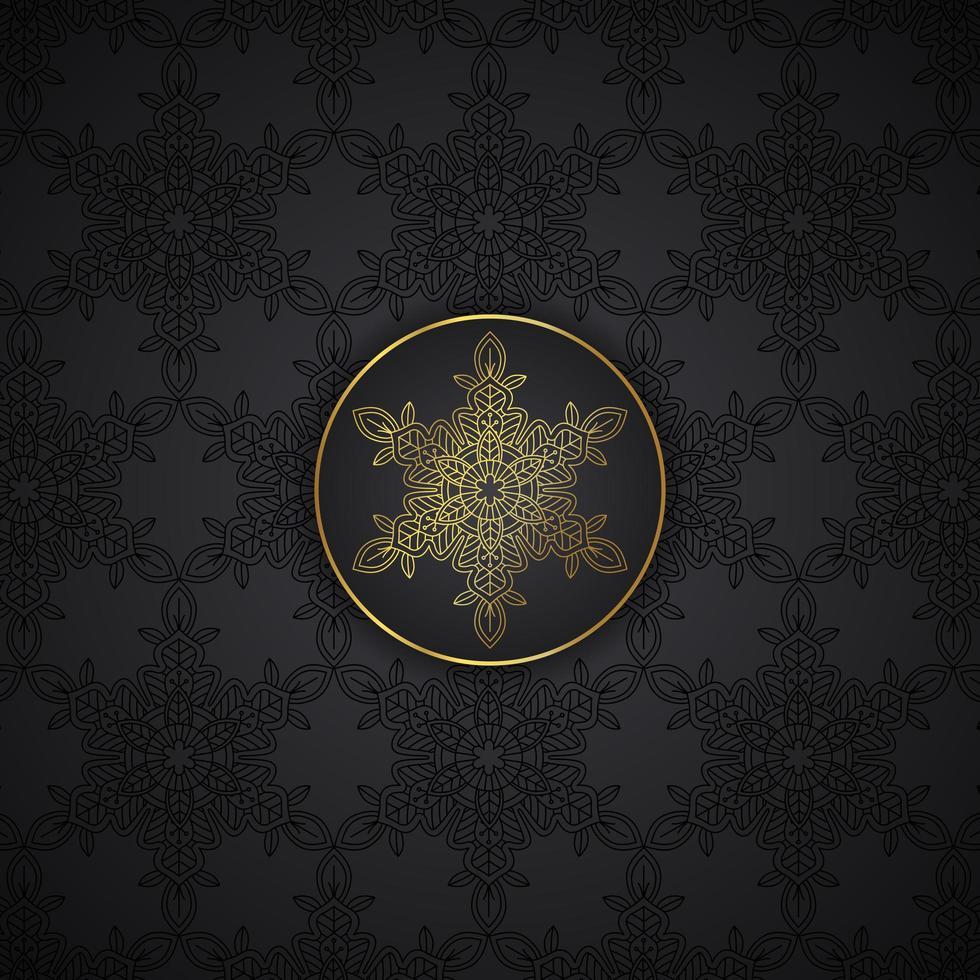 luxe mandala patroon achtergrond vector