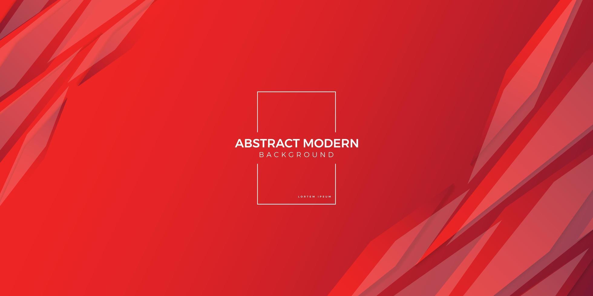 Rood geometrisch ontwerp als achtergrond vector
