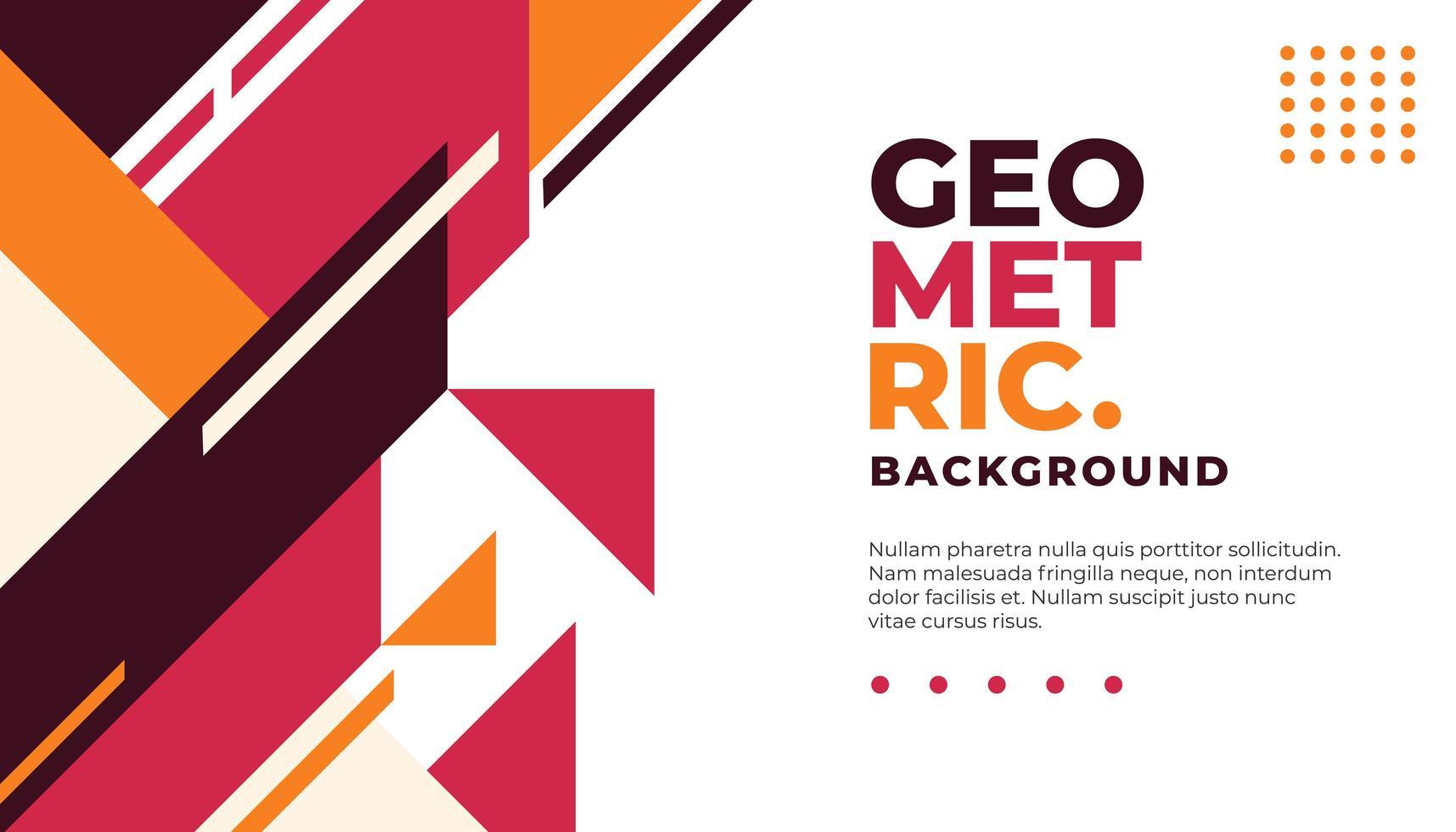 Minimale rode en oranje geometrische achtergrond vector