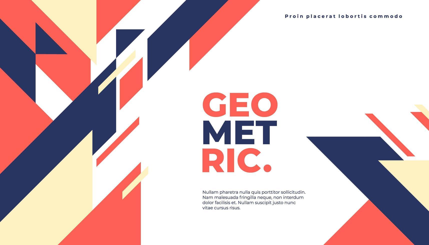 Oranje, gele en blauwe geometrische achtergrond vector