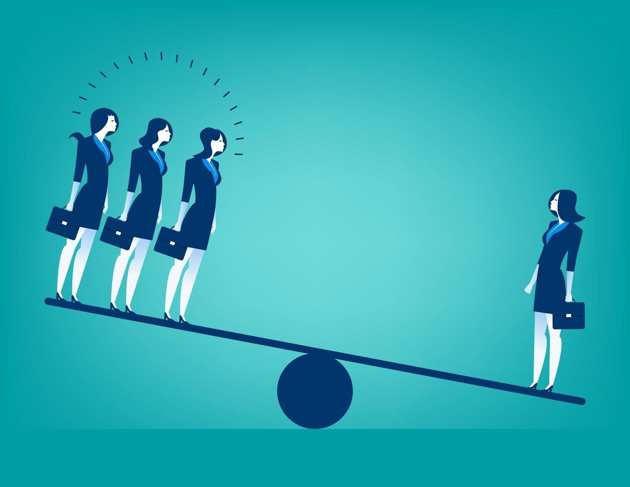 Vrouwelijke ondernemers op wip vector