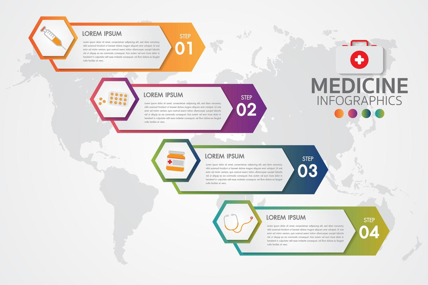 Geneeskunde Apotheek Infographic vector