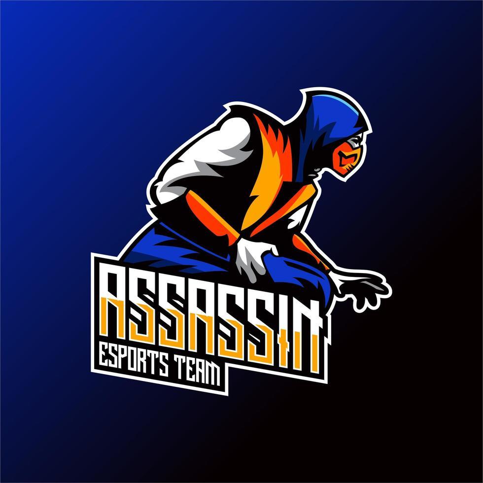 moordenaar team mascotte ontwerp vector
