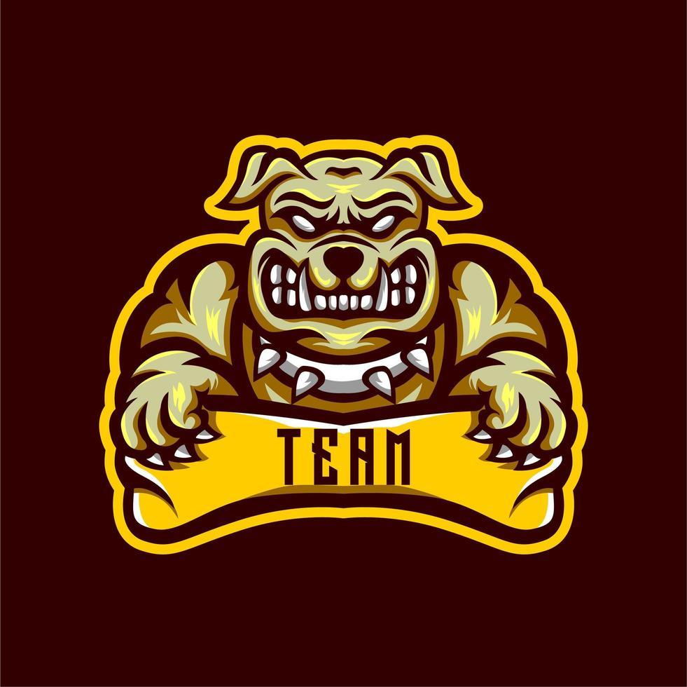 Bulldog Team embleem vector