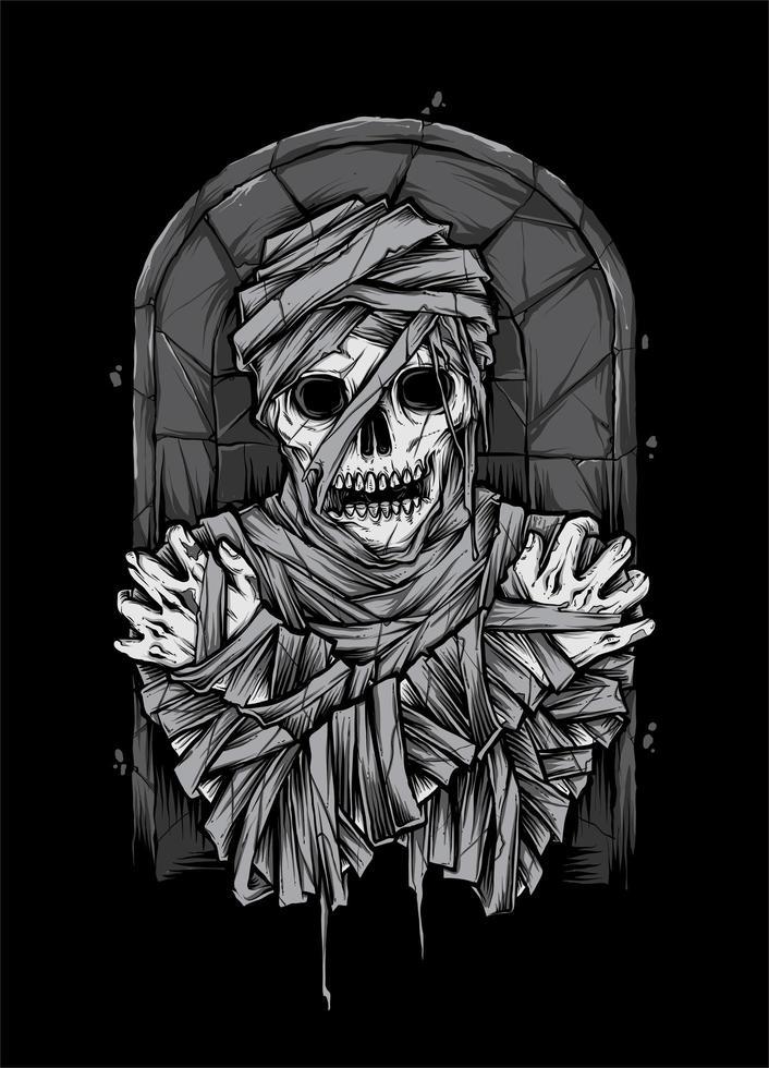 Mummie Zombie Illustratie vector
