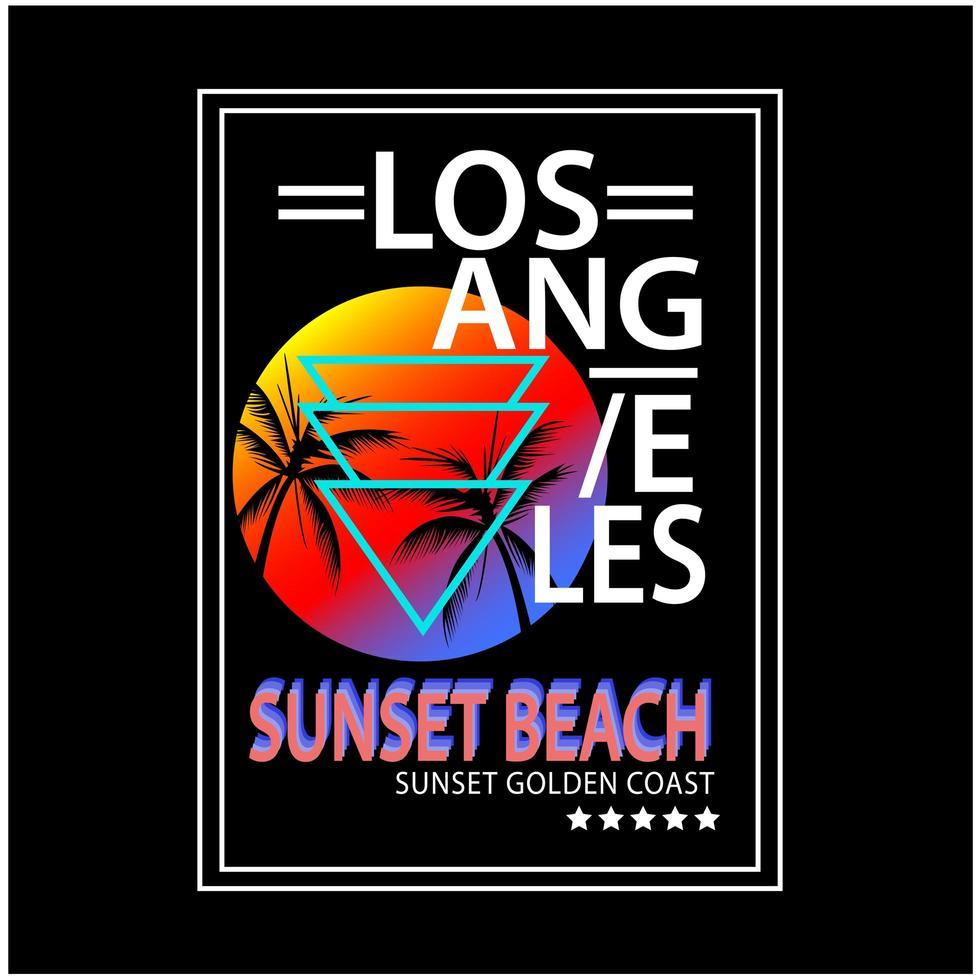 Los Angeles typografie afdrukken vector