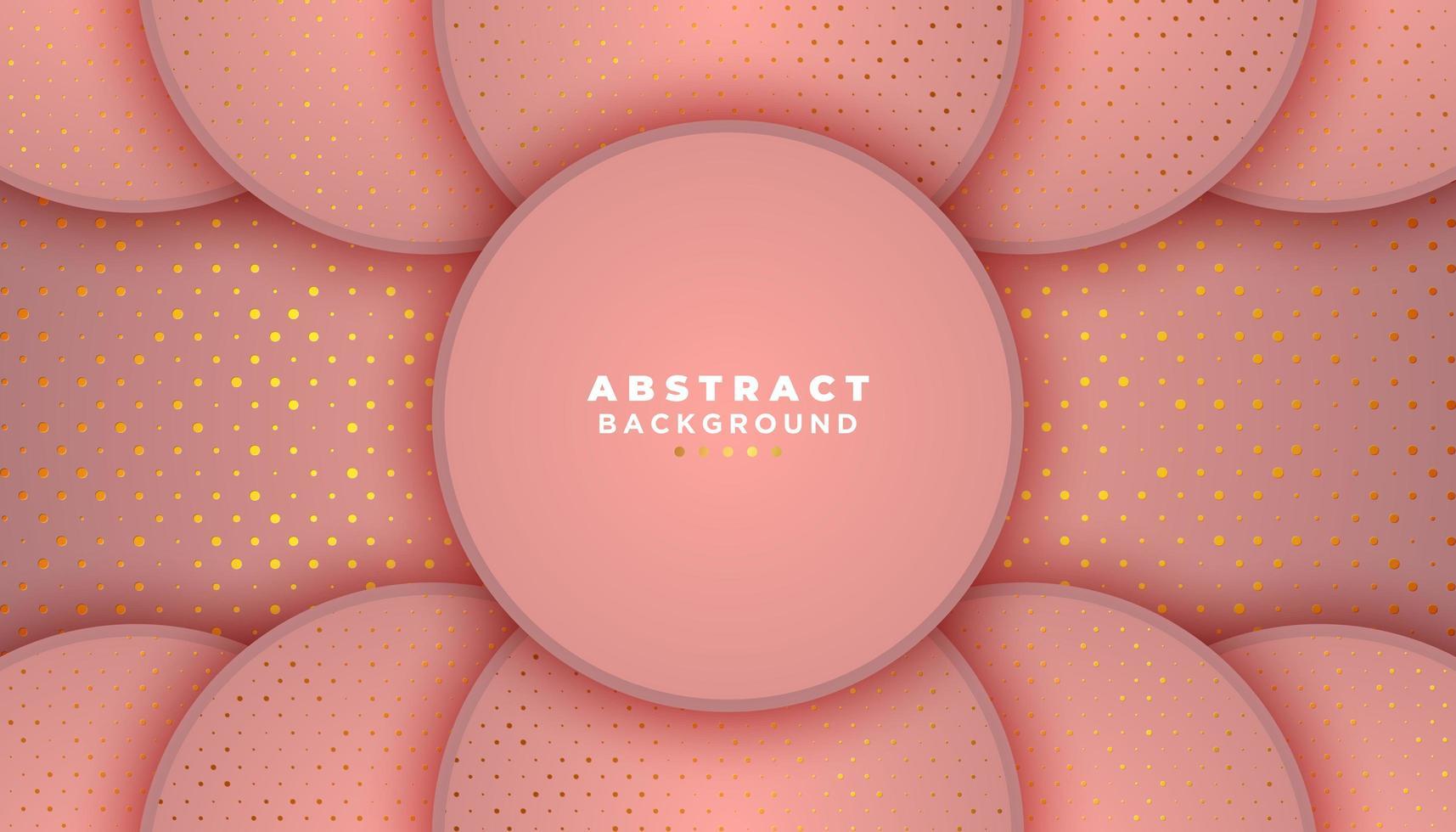 roze achtergrond met cirkels en glitter stippen vector