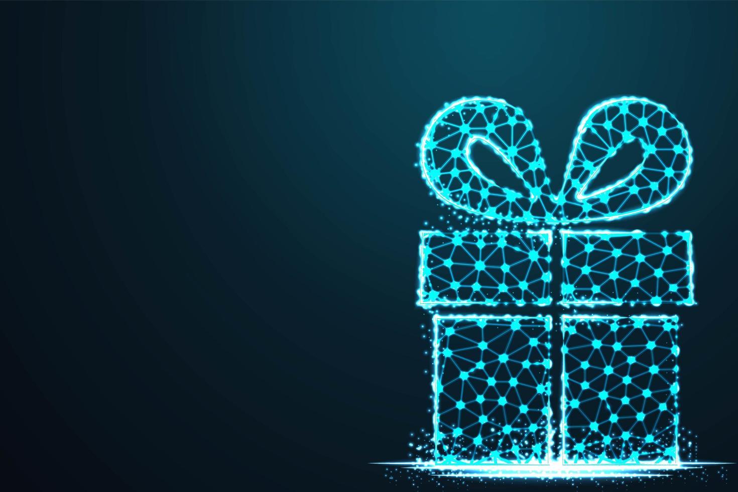 geschenkdoos in modern abstract blauw tech-ontwerp vector