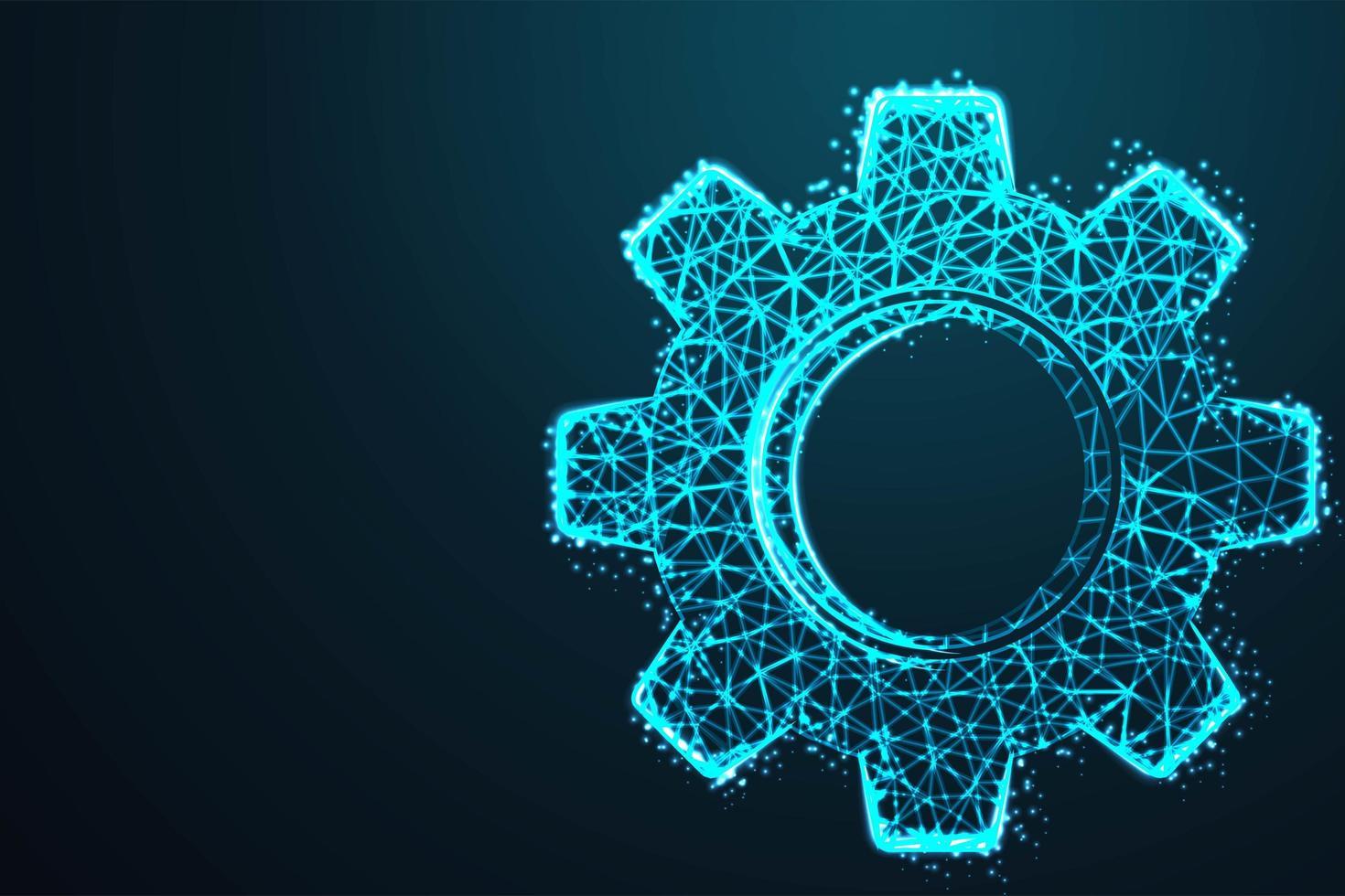 uitrusting in abstract gloeiend blauw ontwerp vector