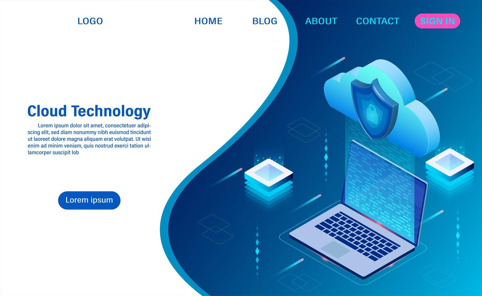 cloud computing technologie concept vector
