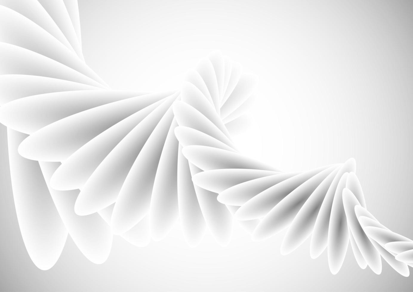 abstracte witte spiraalvormige ontwerpachtergrond vector