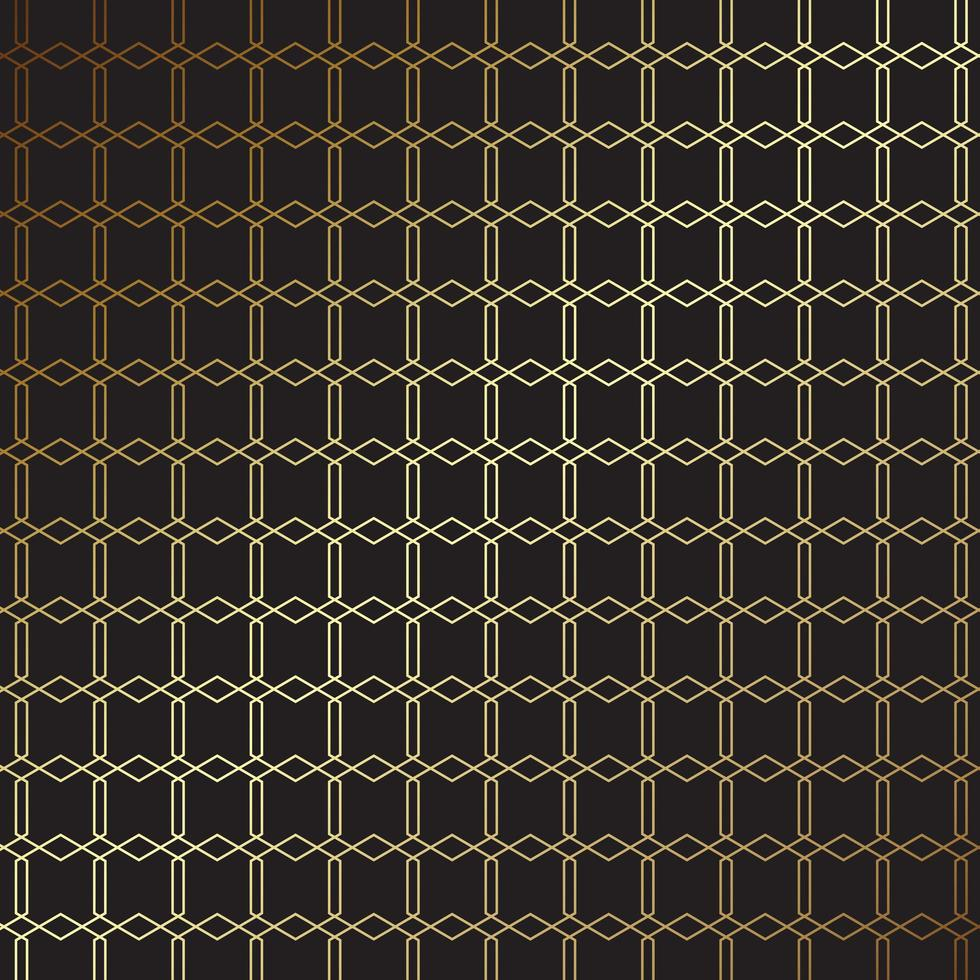 elegant goud en zwart patroonontwerp vector